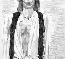 keith richards graphite draw by mariana95
