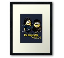 Game of thrones the despicable watch Framed Print