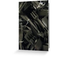 plastics in black Greeting Card