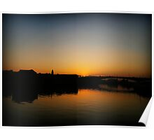 Glasgow Clydeside Sunset Poster