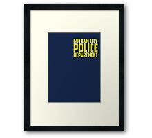 Batman Arkham Knight Gotham City Police Department Framed Print
