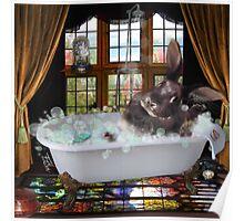 Bunny Bubble Bath Poster