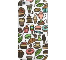 Coffee and pastry.  iPhone Case/Skin