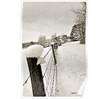 A Winter Fence Poster