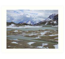 Glaciers on the Bernina Pass  Art Print