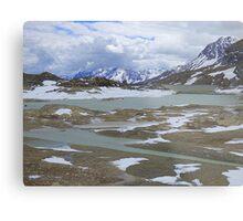 Glaciers on the Bernina Pass  Metal Print