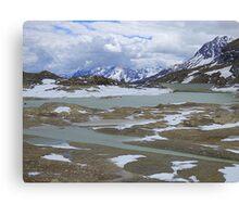 Glaciers on the Bernina Pass  Canvas Print