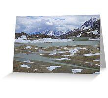 Glaciers on the Bernina Pass  Greeting Card