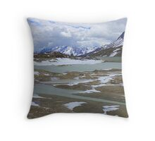 Glaciers on the Bernina Pass  Throw Pillow