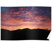 Sunrise - Great Dividing Range, Nth QLD Poster