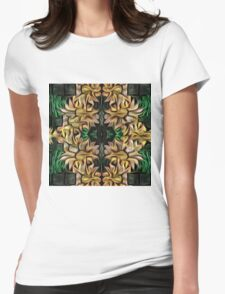 Yellow Garland Womens Fitted T-Shirt