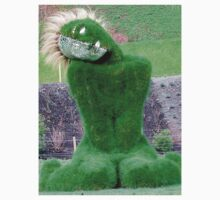 Green Godess, Grass, Green Woman, Eden project, Living Sculpture One Piece - Short Sleeve