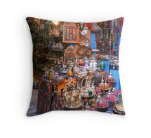 A Shop in the Medina in Tunis Throw Pillow