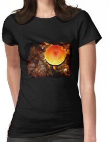 Orange Milkcap [Lactarius aurantiacus] Womens Fitted T-Shirt