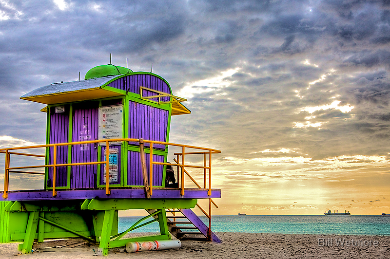 South Beach Lifeguard Stand by njordphoto