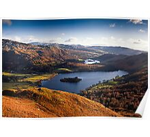 View of Grasmere & Rydal Water, Cumbria Poster