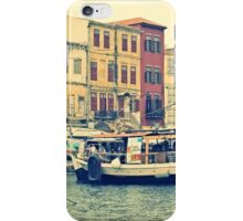 Old Venetian Houses in Chania Harbour, Crete, Greece iPhone Case/Skin