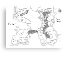 Throne of Glass - Map of Erilea Canvas Print