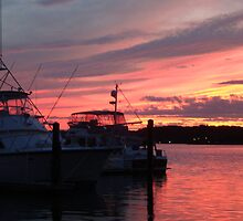 Sailor's Delight, A Beautiful Sunset in Belmar, NJ by Michele Ford