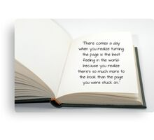 Inspiration book Canvas Print