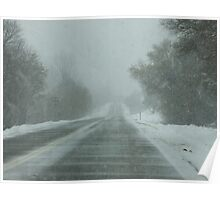 Driving through a Snow Storm Poster