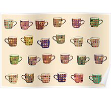 Loving Cups - Spiral Heart Coffee Mugs  Poster