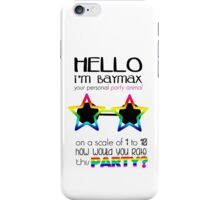 Baymax party animal 2.0 iPhone Case/Skin