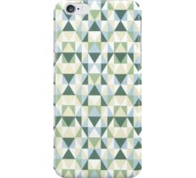 Geometric Blue and Green Triangles Repeating Artwork iPhone Case/Skin