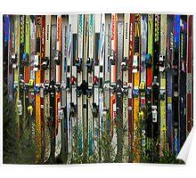Ski Fence Poster