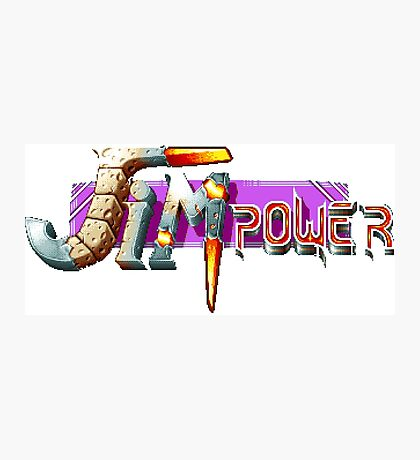 Jim Power - SNES Title Screen Photographic Print