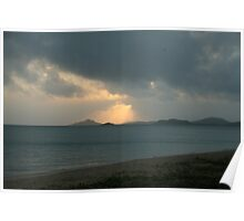 Cloudy Sunrise - Cape York, QLD Poster
