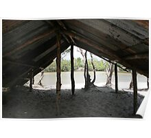 Old River Crossing Hut - Banks of the Jardine River, North QLD Poster