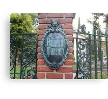 Haunted Mansion Disneyland Metal Print