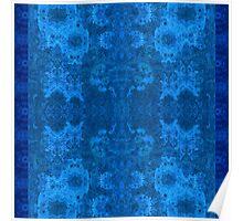 Designer textiles-Pseudo Pompous Baroque :Not afraid of the blue fox Poster