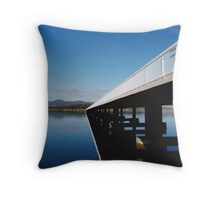 Crossing at Midway Point Throw Pillow