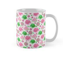 Pink Green Watermelon Turtles Pattern Mug