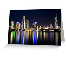 Surfers by Night Greeting Card