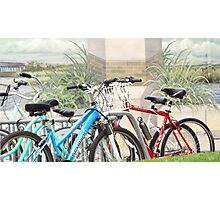 Bikes In Front of Mural Photographic Print