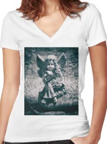 Kissed Women's Fitted V-Neck T-Shirt