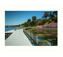 Rippleside Board Walk, Geelong Art Print