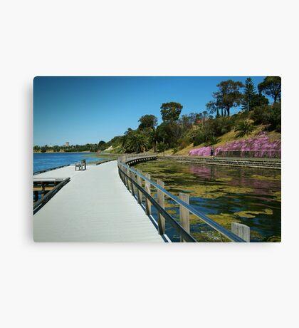 Rippleside Board Walk, Geelong Canvas Print