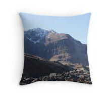 Snowdon mountain Range Throw Pillow