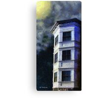Ominous Night at Hexagon House Canvas Print