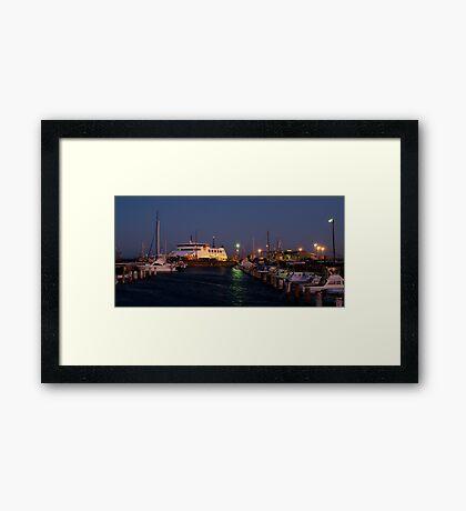 Twilight,Queenscliff Harbour  Framed Print