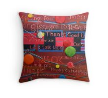 These Plastic Words Throw Pillow