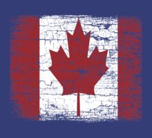 Vintage Canada Flag T Shirt design by EthosWear