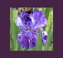 Purple Iris with White Unisex T-Shirt