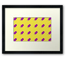 Delicious Flying Popsicles Framed Print