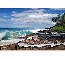Turqouise Breakers of Makena, Hawaii Photographic Print