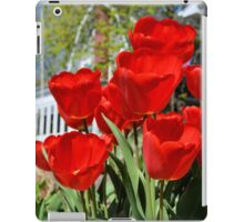 Front Yard Tulips iPad Case/Skin
